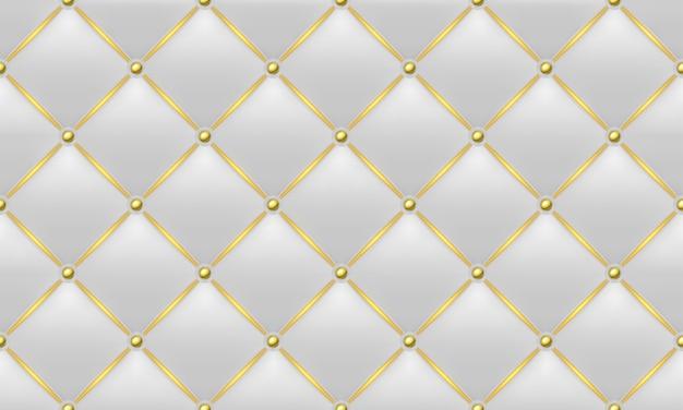 Textura de couro dourado e branco