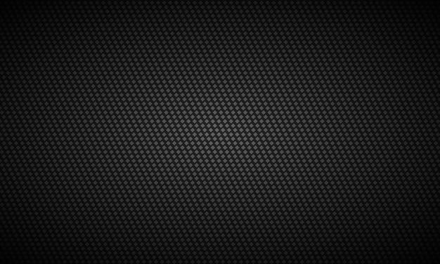 Textura de fibra de carbono escura com fundo preto
