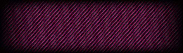 Textura de fibra de carbono kevlar com fundo cinza escuro e rosa