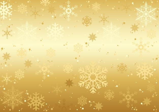 Textura de flocos de neve de natal ouro