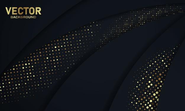 Textura de fundo abstrato preto glitter ouro fundo negócios