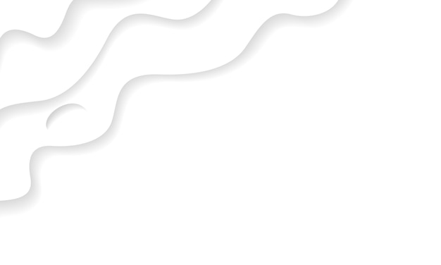 Textura de fundo branco ondulado com estilo de corte de papel