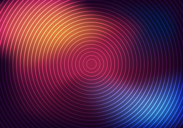Textura de fundo de círculos de néon brilhante do modelo de negócios na moda abstrato. ilustração vetorial