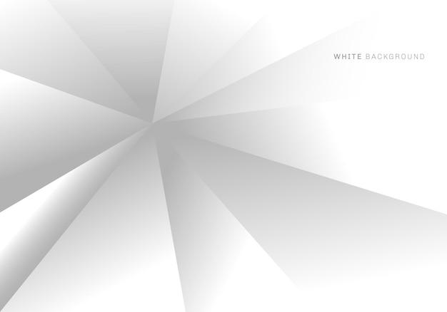 Textura de fundo de dimensão de triângulos geométricos abstratos de cinza e branco. ilustração vetorial