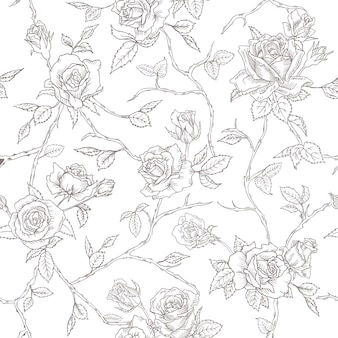 Textura de fundo de rosas florais sem costura