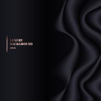 Textura de fundo de vinco de pano preto