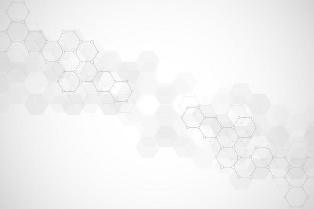 Textura de fundo geométrico com estruturas moleculares e engenharia química