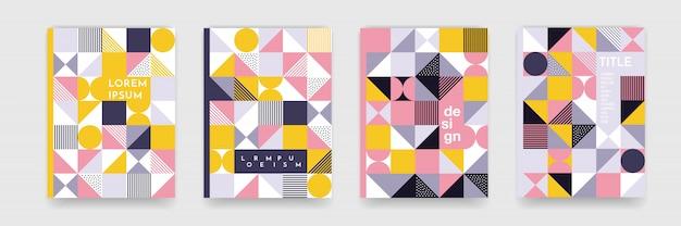 Textura de fundo padrão geométrico triângulo para design de capa de cartaz. modelo de banner de cor mínima com círculos, quadrados