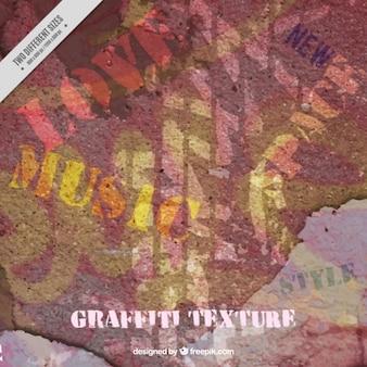 Textura de grunge de uma parede pintada com grafite
