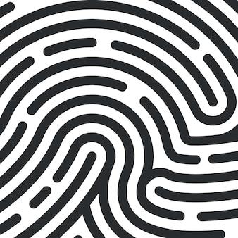 Textura de impressão digital. impressão digital de identificação pessoal. ilustração vetorial