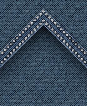 Textura de jeans com ângulo