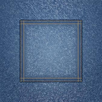 Textura de jeans com bolso quadrado