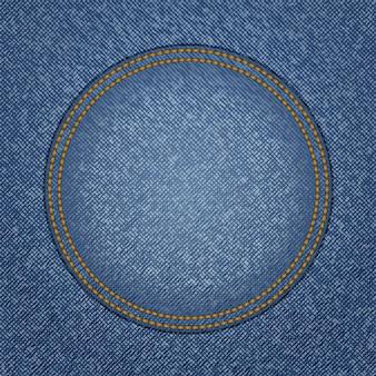 Textura de jeans com bolso redondo