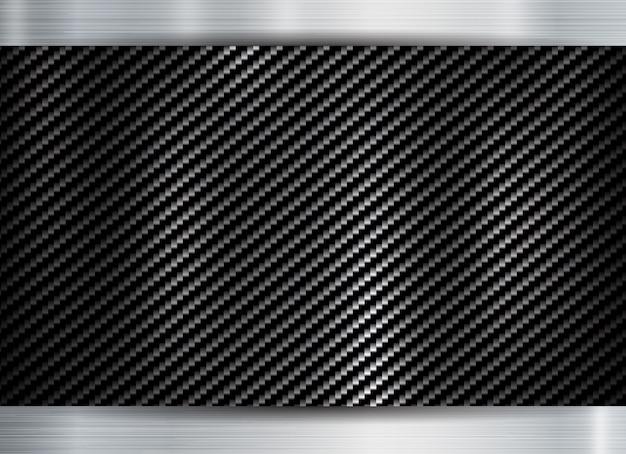 Textura de kevlar de carbono de armação metálica