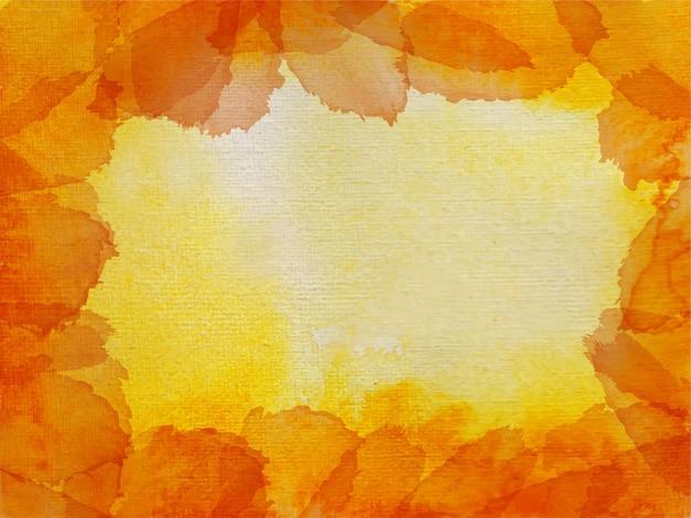 Textura de lavagem aquarela laranja fundo abstrato