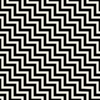 Textura de linhas em zigue-zague pretas padrão sem emenda