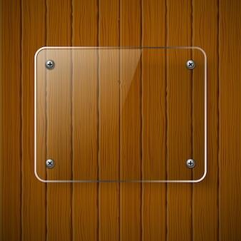 Textura de madeira com estrutura de vidro