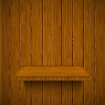 Textura de madeira com prateleira