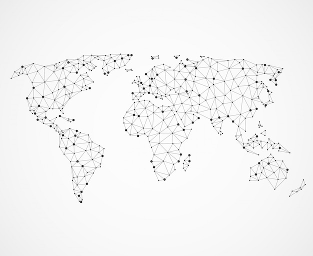 Textura de mapa do mundo de redes