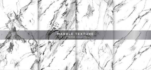 Textura de mármore branca com padrão natural para o trabalho de arte de plano de fundo ou design.