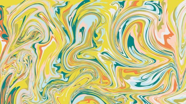 Textura de mármore líquida, superfície de marmoreio colorida. fundo de tinta com marca d'água.