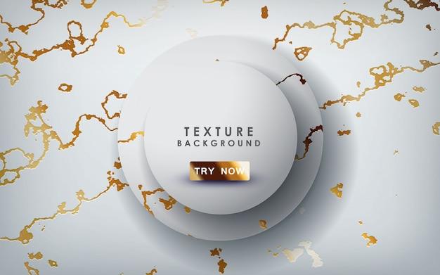 Textura de mármore ouro com camadas de círculo