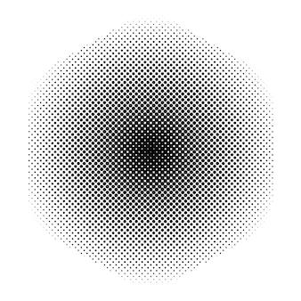 Textura de meio-tom de pontos redondos pretos de vetor abstrato