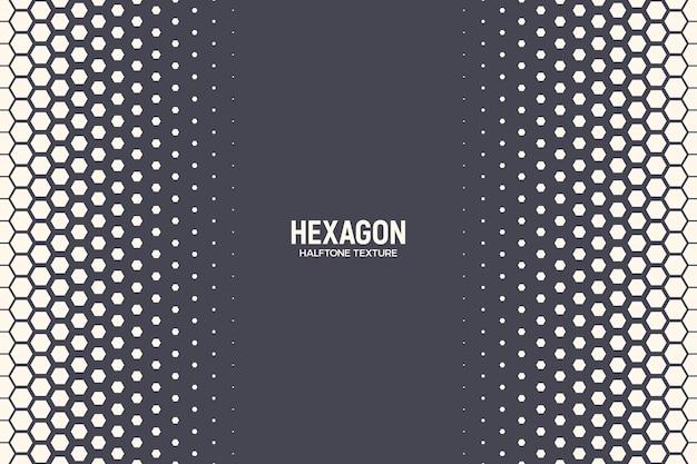 Textura de meio-tom hexagonal borda geométrica padrão retro colorido tecnologia fundo abstrato