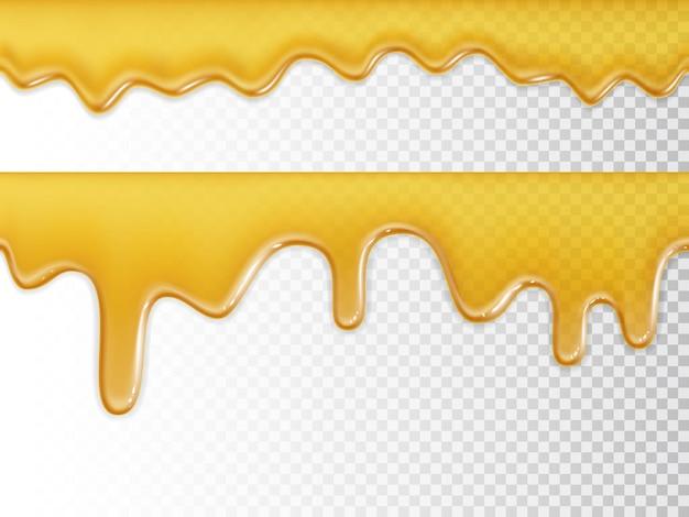 Textura de mel fluida perfeita