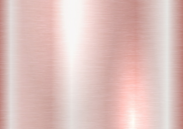 Textura de metal escovada ouro rosa