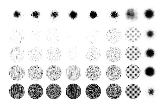 Textura de muitos grãos de areia em círculo