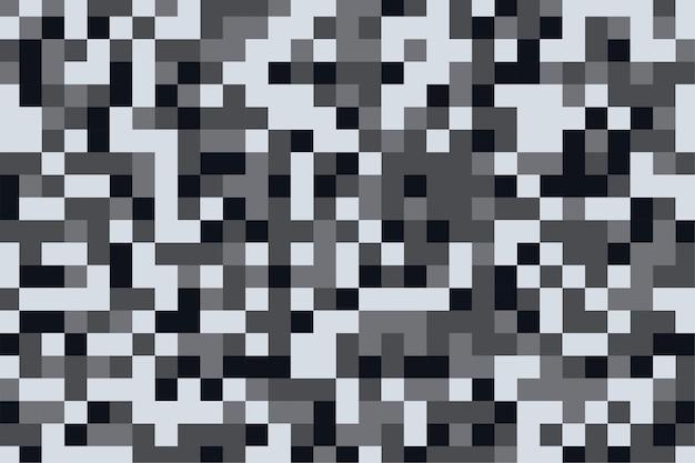 Textura de padrão de camuflagem em fundo de tons de cinza de pixel