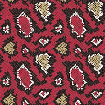 Textura de padrão sem emenda de pele de cobra colorida repetindo sem emenda no vetor. estampa moderna, fundo elegante