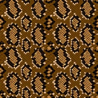 Textura de padrão sem emenda de pele de cobra repetindo sem emenda no vetor. estampa moderna, fundo elegante