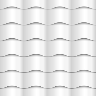 Textura de papel branco sem costura padrão ondulado