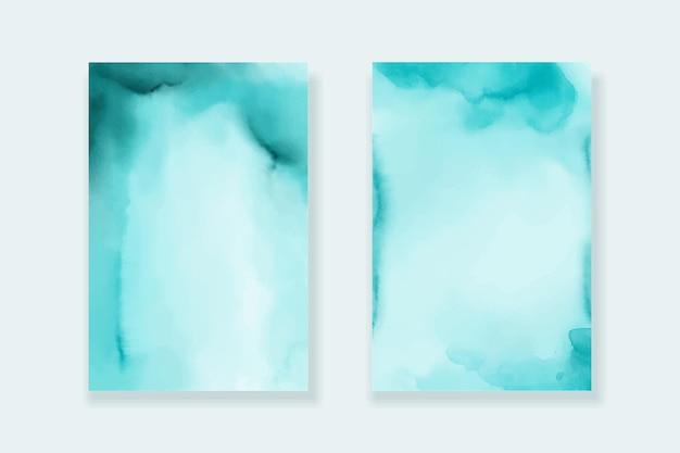 Textura de papel de fundo aquarela turquesa
