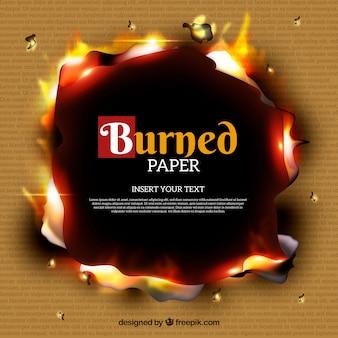 Textura de papel queimado realista