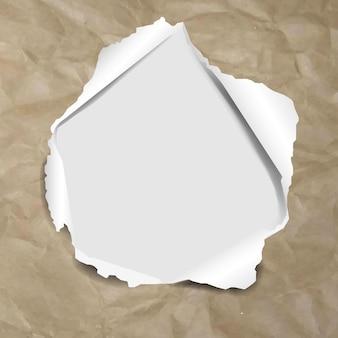 Textura de papelão com rasgado