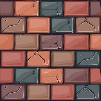 Textura de parede de pedra colorida dos desenhos animados