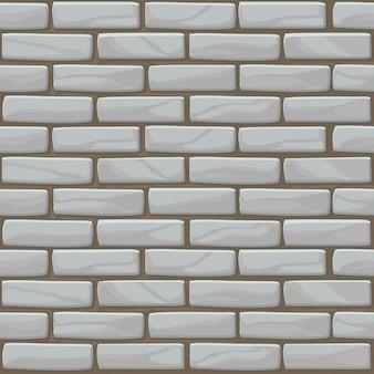 Textura de parede de tijolo branco sem costura. parede de pedras de ilustração na cor cinza. padrão uniforme