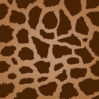 Textura de pele de vida selvagem abstrata de girafa de vetor, plano de fundo