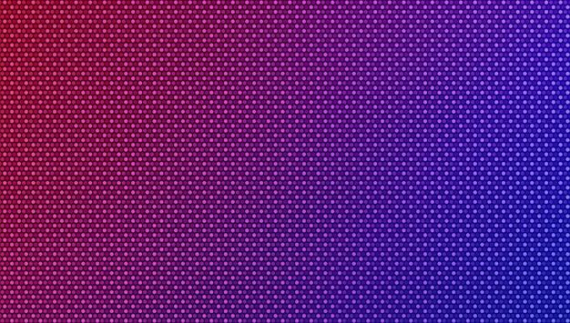 Textura de pixel conduzida. fundo gradiente com pontos. monitor lcd. efeito de diodo eletrônico.