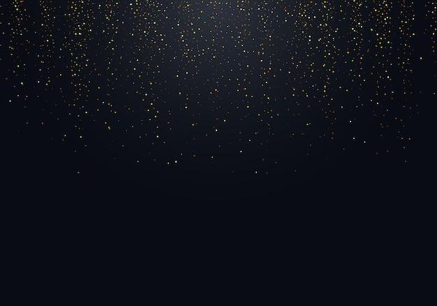 Textura de pó de glitter dourados de vetor. elemento de design festivo abstrato