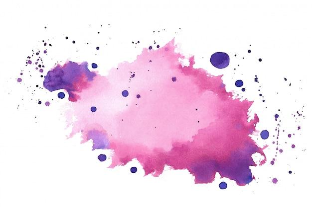Textura de respingo de respingos de aquarela de sombra roxa rosa