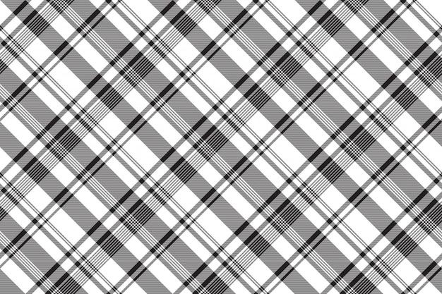 Textura de tecido abstrato branco preto sem costura