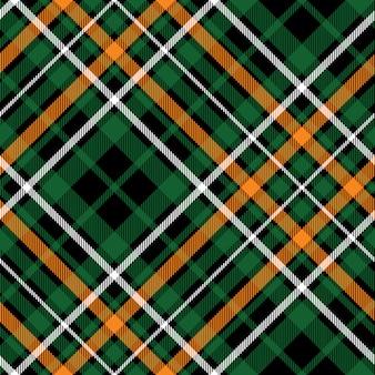 Textura de tecido celta fc diagonal verde tartan sem costura padrão