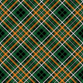 Textura de tecido diagonal verde tartan celta fc sem costura padrão
