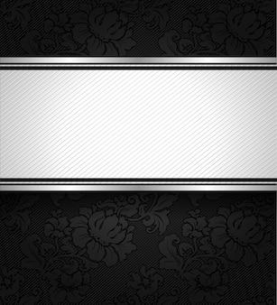 Textura de tecido ornamental de fundo preto