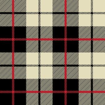 Textura de tecido preto e branco em um padrão quadrado sem costura