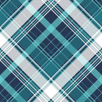 Textura de tecido sem costura de verificação de pixel azul tartan